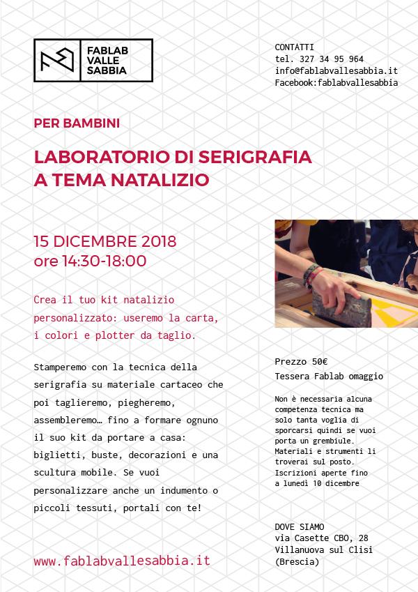 Laboratorio di serigrafia a tema natalizio per bambini