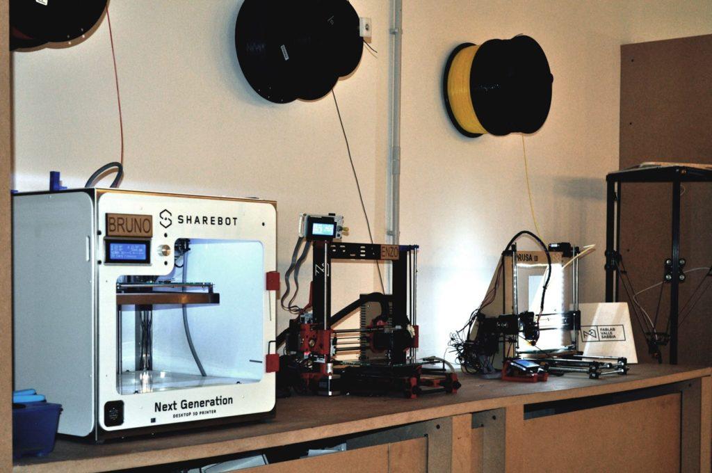 stampanti 3D fablab Valle Sabbia
