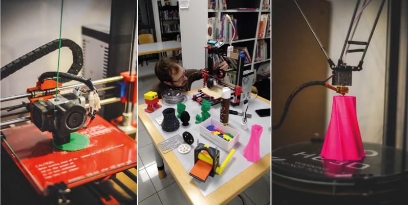 stampanti 3D in azione