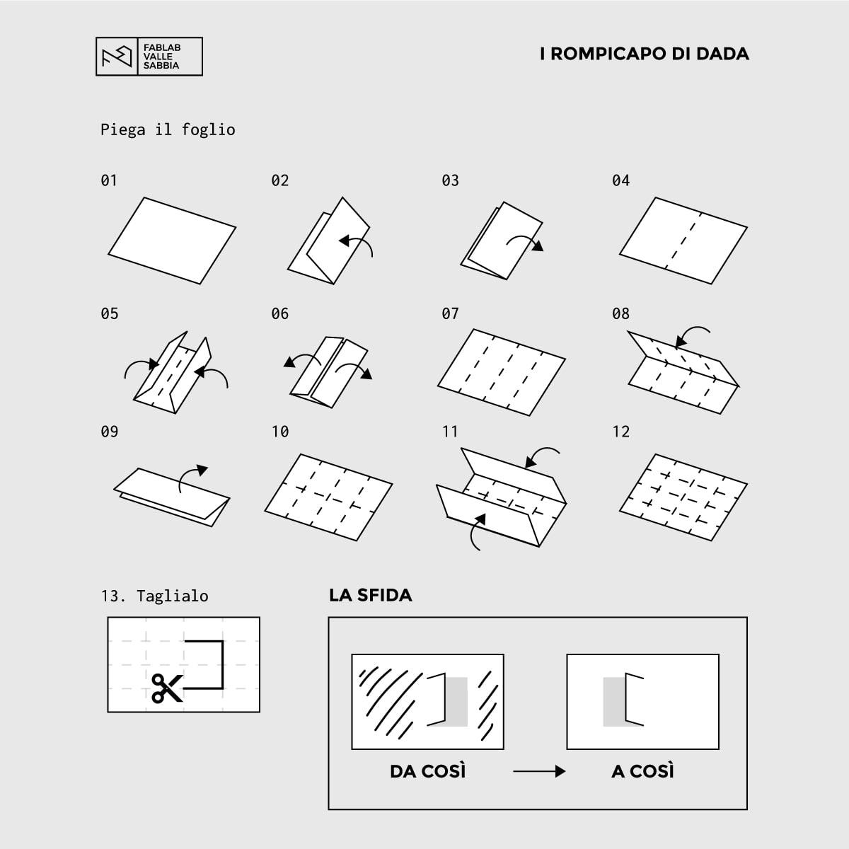istruzioni rompicapo di Dada n.2