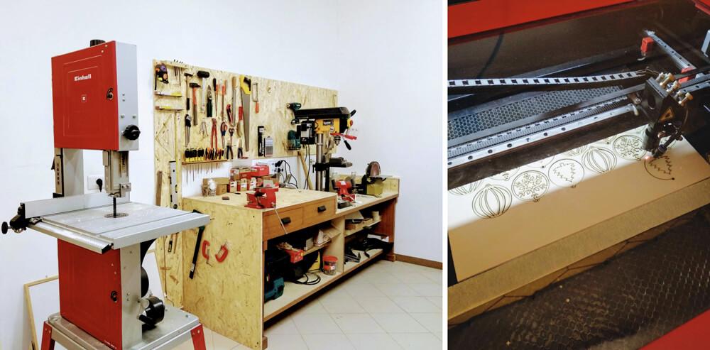 laser a co2 e laboratorio manuale del fablab valle sabbia