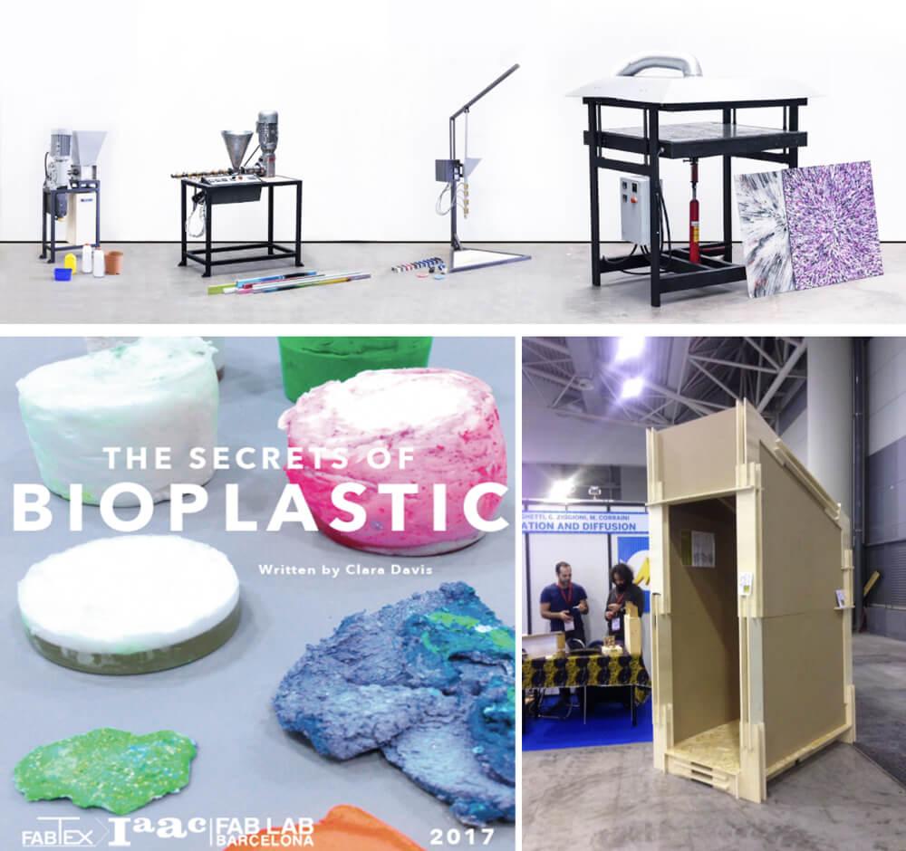 progetti precious plastic, bioplastic e fab_booth