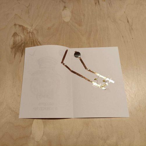 circuito elettrico biglietto luminoso steam bambini